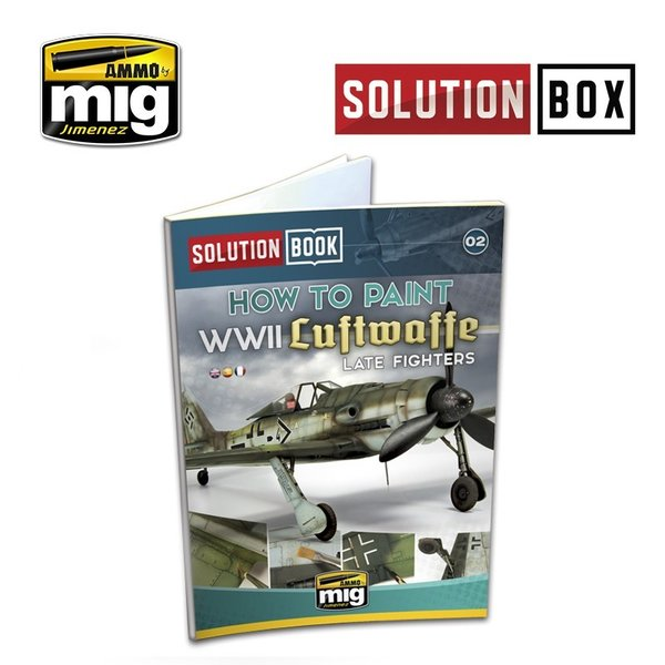 WWII LUFTWAFFE LATE FIGHTERS SOLUTION BOOK - MULTILINGUAL BOOK