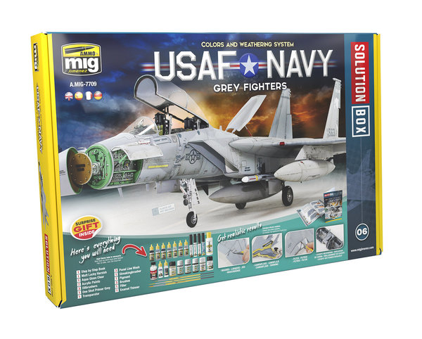 USAF NAVY GREY FIGHTERS SOLUTION BOX